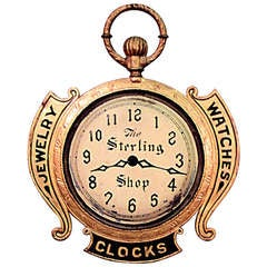 19th c. American Clockmaker's Sign