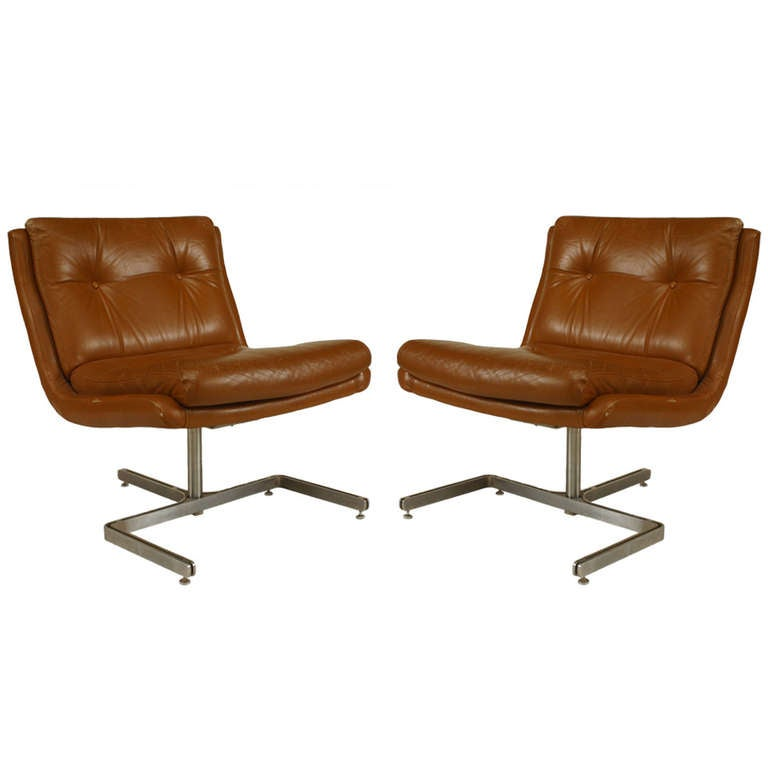 Pair of Mid-Century French Side Chairs Attributed to Raphael