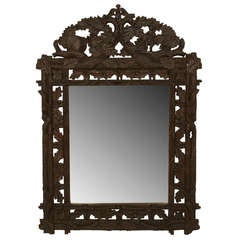 Rustic Black Forest Faux Twig and Leaf Wall Mirror