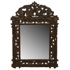 Rustic Black Forest Faux Twig and Leaf Wall Mirror