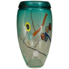 Italian Murano Et Toso Glass Vase