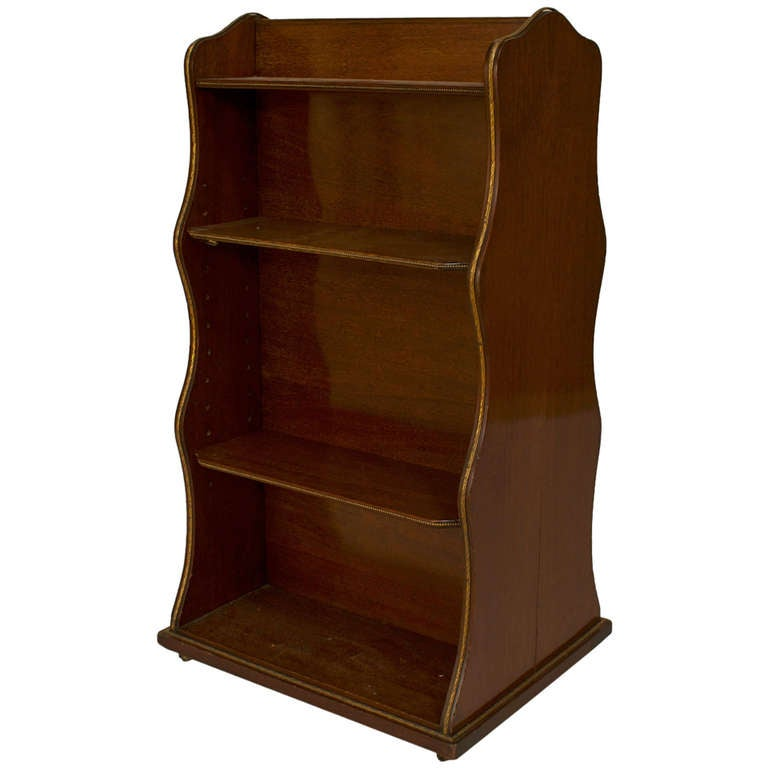 English Regency Double Sided Mahogany Book Stand For Sale