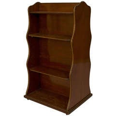 English Regency Double Sided Mahogany Book Stand