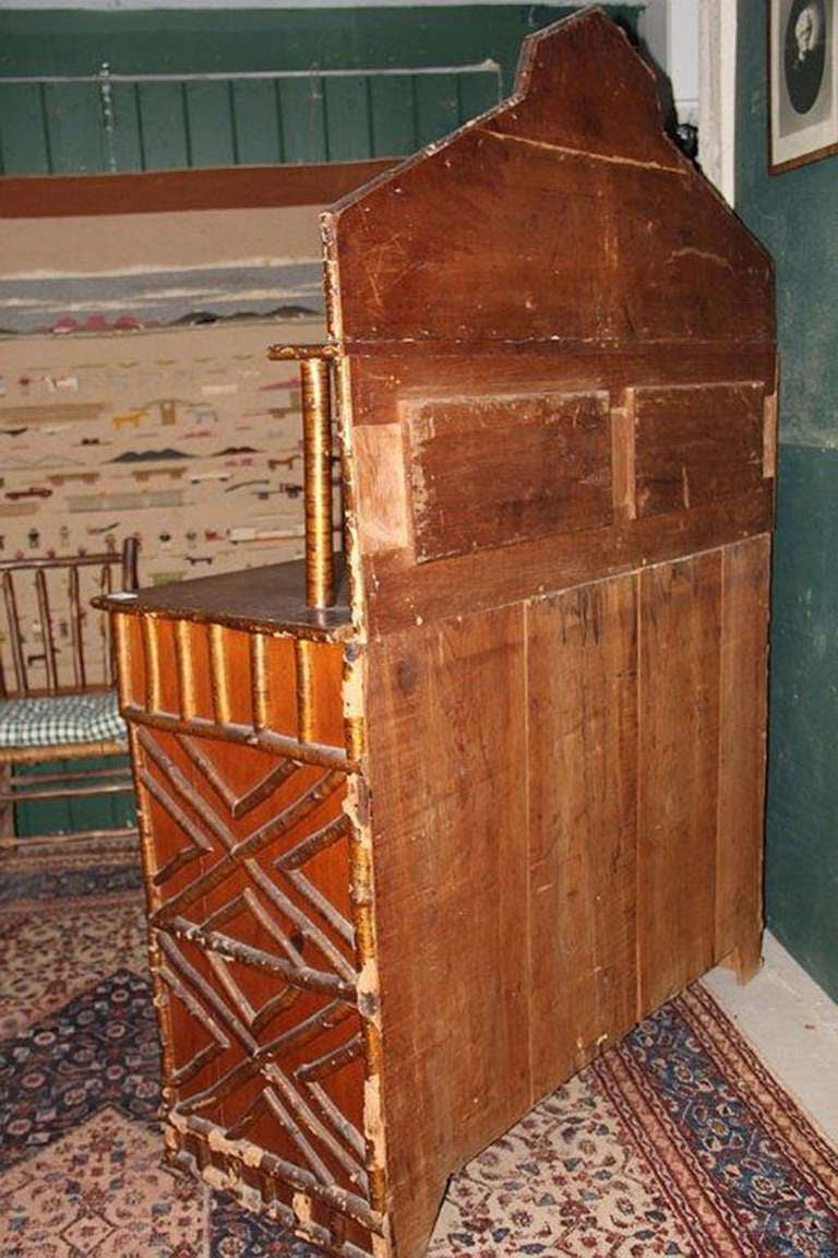 Rustic Adirondack Birch Twig Design Cupboard, c. 1890 image 4