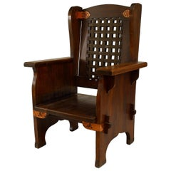 Late 19th Century American Mission Wing Chair, by Dexter Furniture Co.
