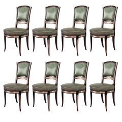 Set of 8 19th c. Russian Neoclassical Side Chairs