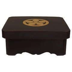 Fine 17th c. Japanese Gilt Decorated Maeda Family Box by Kochu