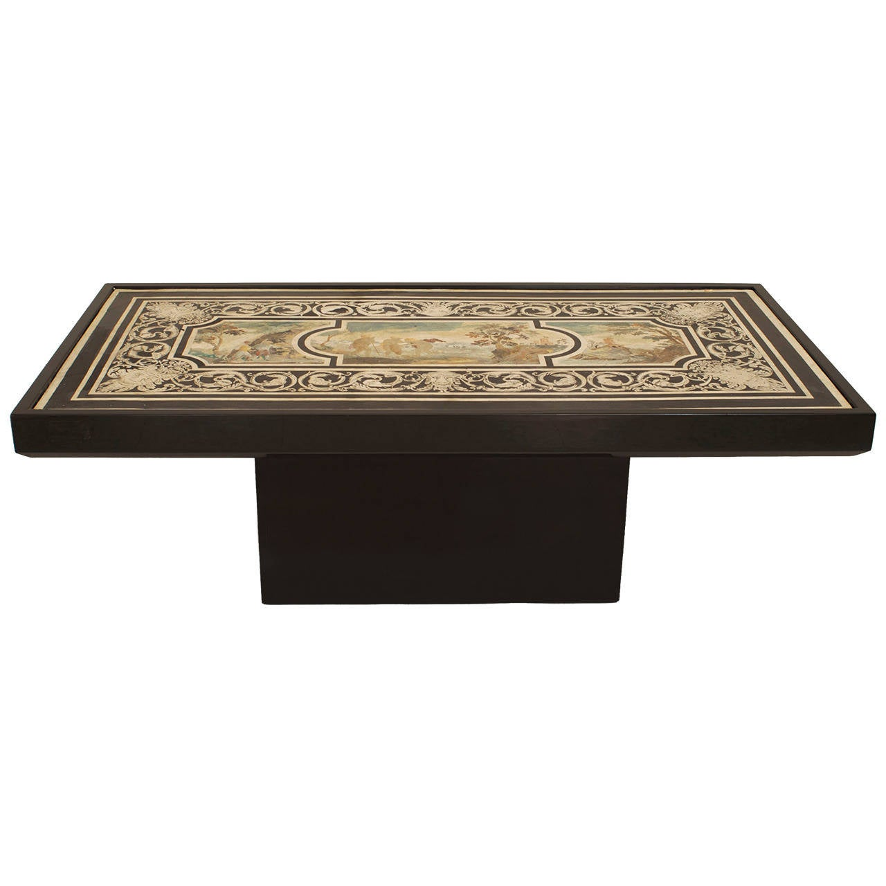 Contemporary Coffee Table with 18th c. Italian Neoclassical Top