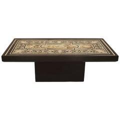 Italian Neoclassic Style Scagliola Classical Scene Coffee Table