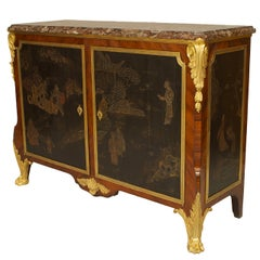 19th c. French Louis XV/XVI Style Commode Signed by Decour