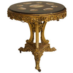 Spectacular Mosaic Top Italian Neoclassic Table