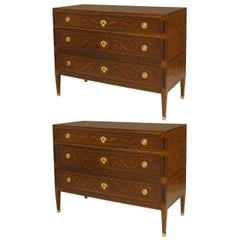 Pair of 18th Century Northern Italian Commodes
