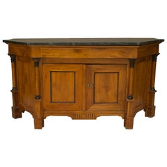 A Lovely Italian Empire Neo-Classic Fruitwood Sideboard Cabinet