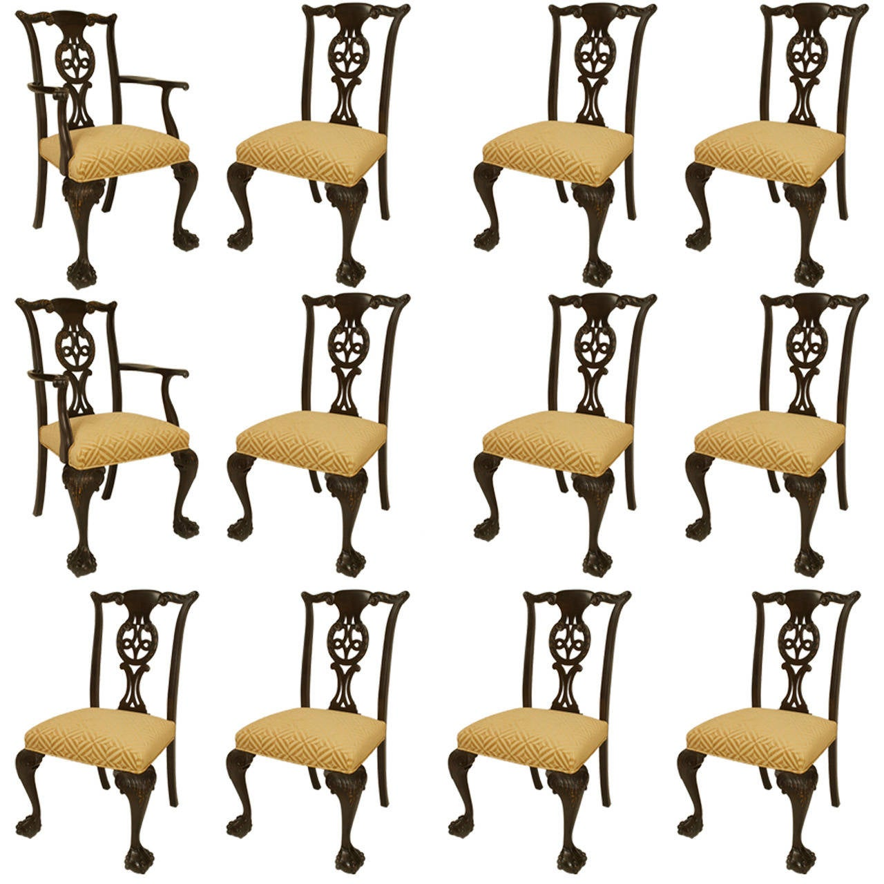 A Lovely Set of 12 Irish George II Style Chairs