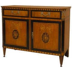 Finely Inlaid Late 18th Century Satinwood Commode