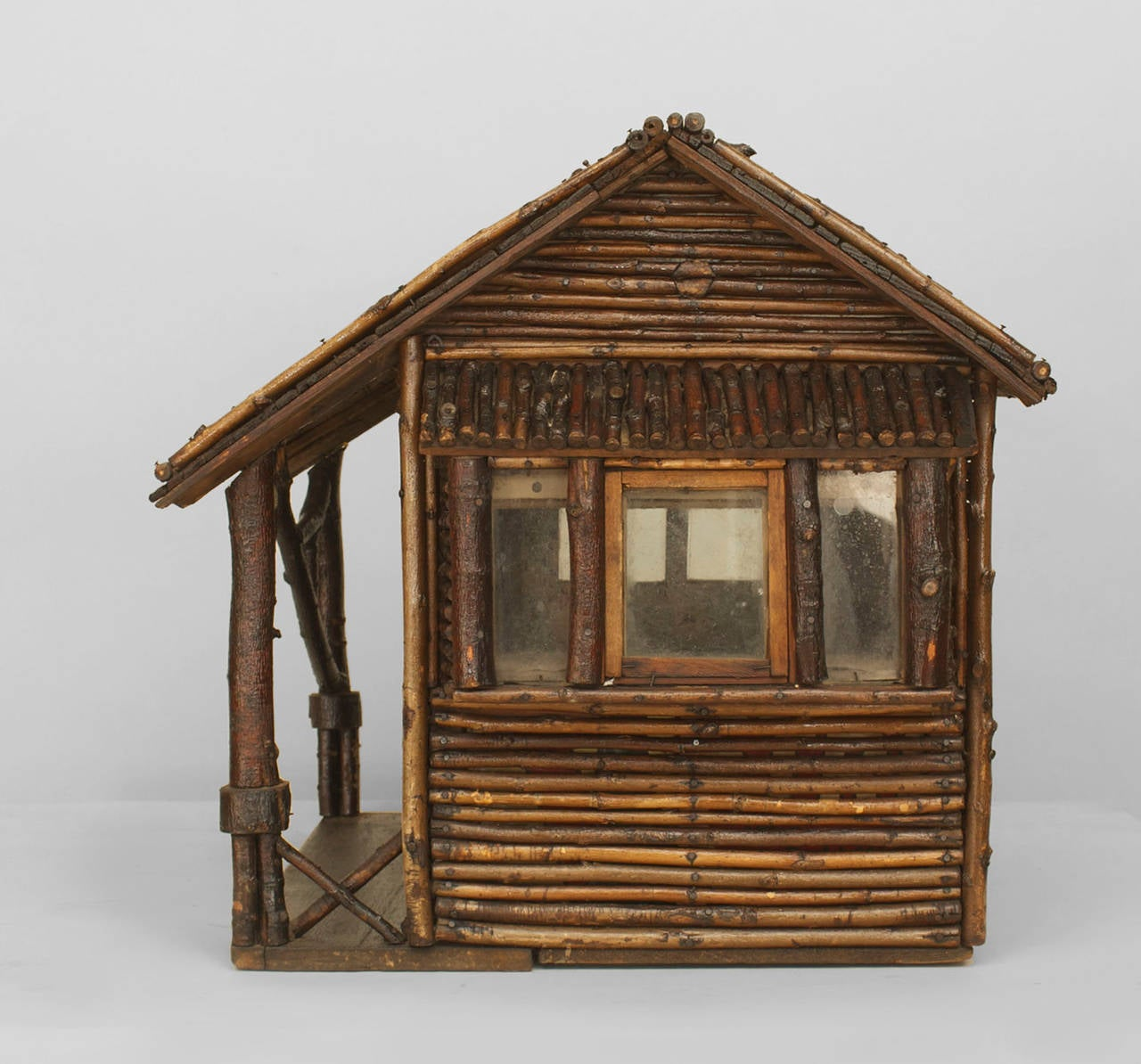 Early 20th C American Rustic Miniature Log Cabin For Sale At 1stdibs