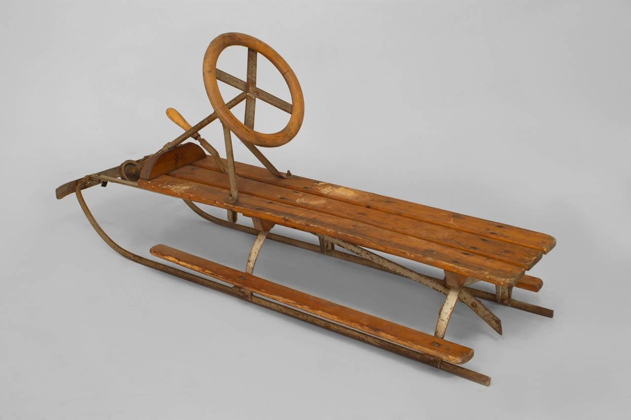 1940 u0027s american toboggan sled for sale at 1stdibs