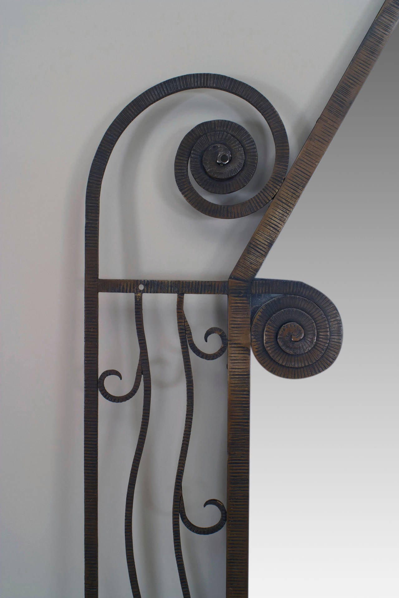 1930u0026#39;s French Art Deco iron Wall Mirror For Sale at 1stdibs