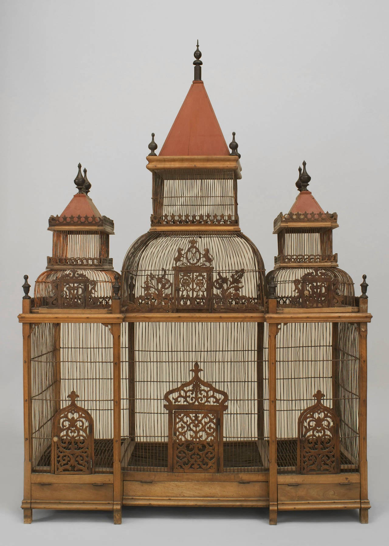 Large Turn Of The Century French Birdcage 3