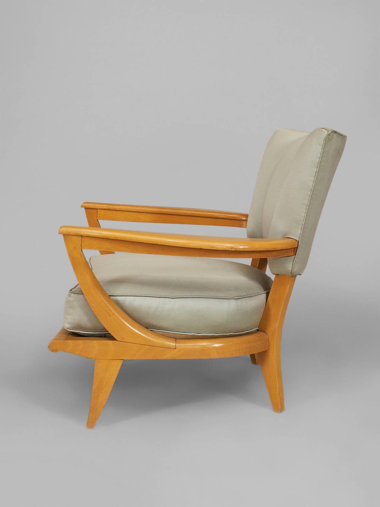 Very comfortable pair of 1950s french reclining leather armchairs - 1950 S French Sk40 Armchair By Etienne Henri Martin For Steiner 3