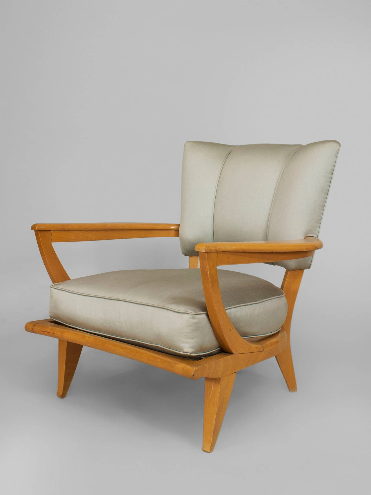 Very comfortable pair of 1950s french reclining leather armchairs - 1950 S French Sk40 Armchair By Etienne Henri Martin For Steiner 2