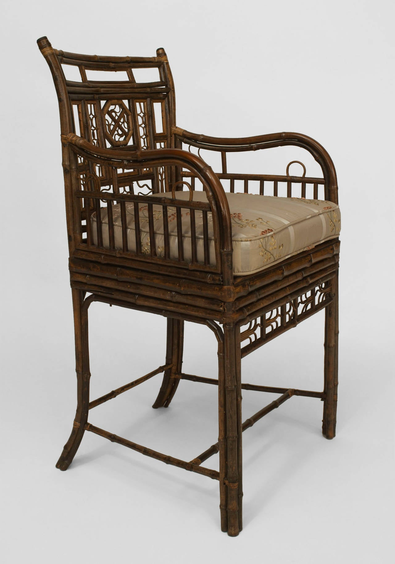 19th c english regency brighton design bamboo armchair for English chair design