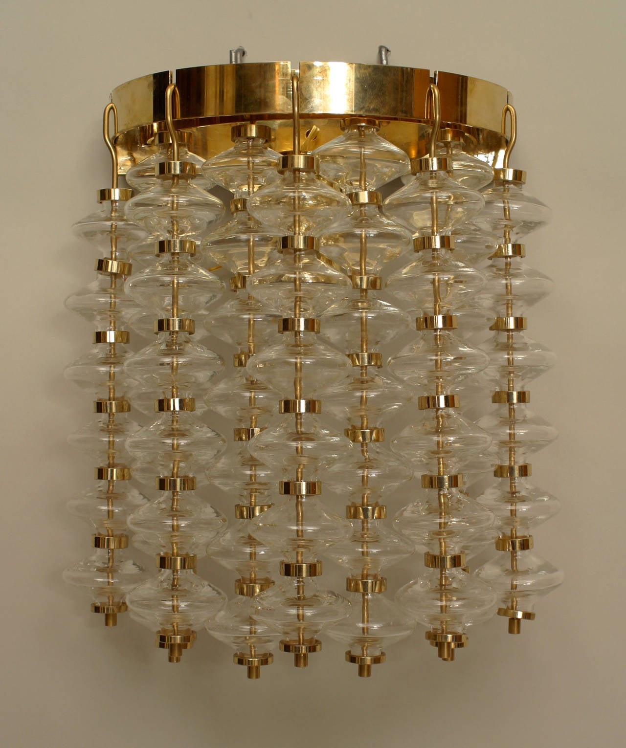 Wall Sconces Italian : Pair of Italian Bubble Glass Wall Sconces at 1stdibs