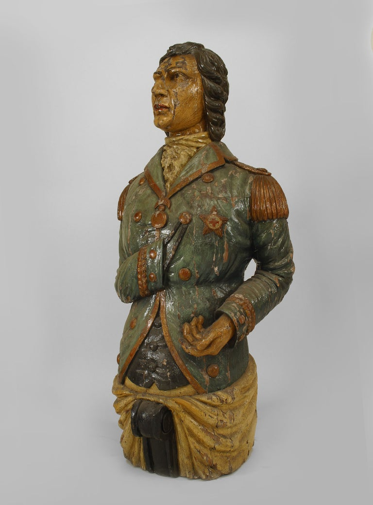 Large 19th Century English Lord Nelson Figurehead For Sale