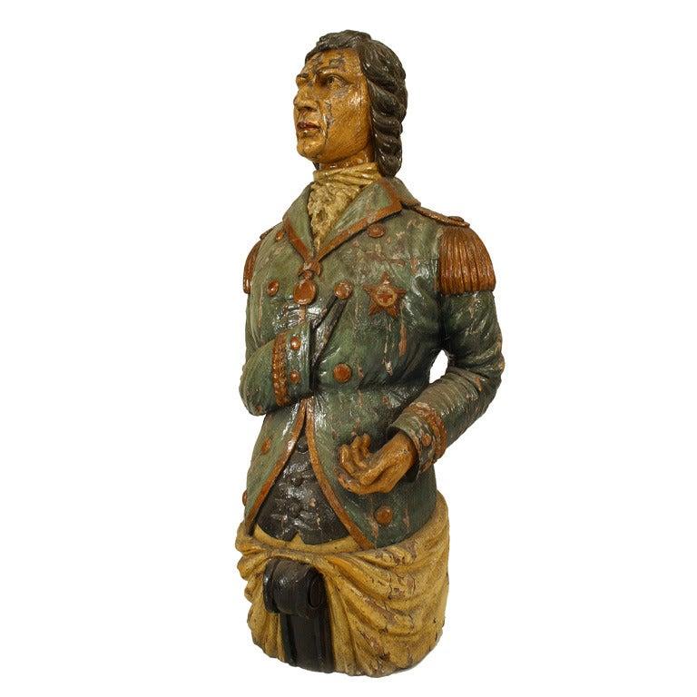 Large 19th Century English Lord Nelson Figurehead
