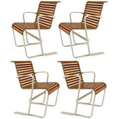 Set of 4 Bauhaus Armchairs Attributed to Marcel Breuer