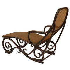 Turn of the Century Austrian Bentwood Chaise Attributed to Thonet