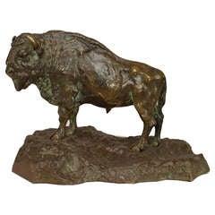 Turn of the Century Bronze Buffalo Figure