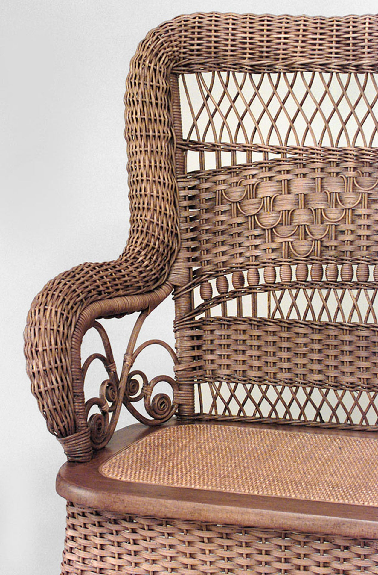 19th c american natural wicker loveseat by larkin and co for American rattan furniture manufacturer