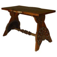 1930s Italian Art Deco Inlaid Rosewood Center Table by Bugatti