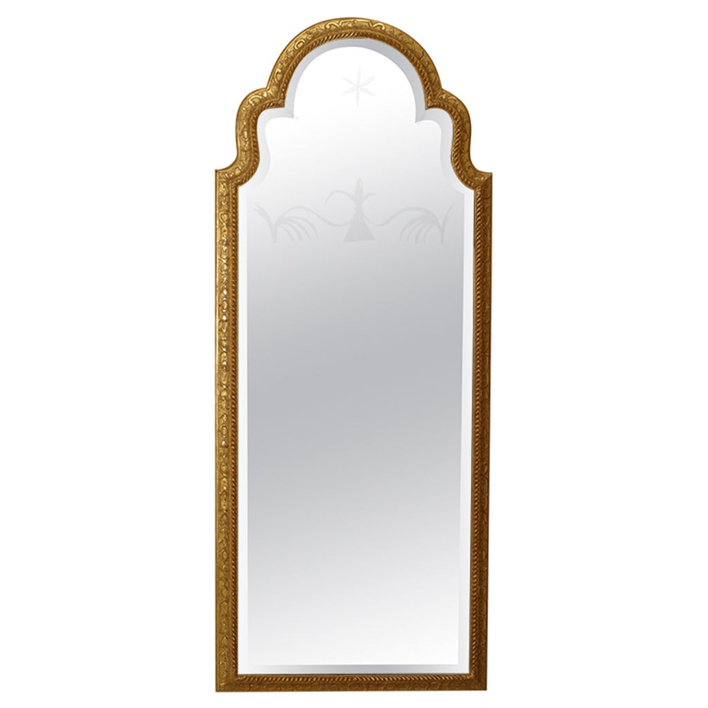 Early 18th c. English Queen Anne Gilt Wall Mirror, c. 1705 For Sale