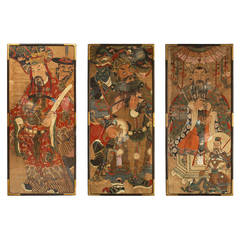 Three 18th or 19th Century Chinese Watercolor Portraits