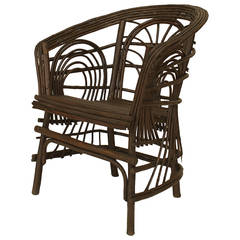 20th c. American Adirondack Style Willow Twig Armchair