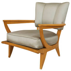 1950's French SK40 Armchair by Etienne-Henri Martin for Steiner
