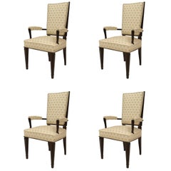 Set of 4 1940's French Armchairs, Attrib. to Dominique