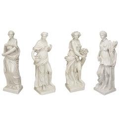 Set of Large Italian Neoclassical Allegorical Figures, circa 1850