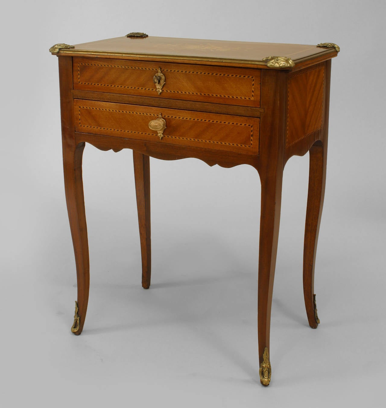 19th c french louis xv style kingwood end table or small - Table louis xv ...
