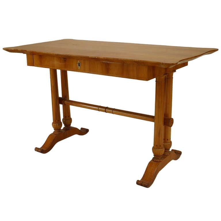 Austrian Biedermeier Cherrywood Table Desk
