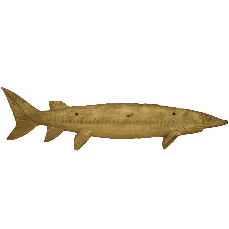 Monumental american country fish market trade sign at 1stdibs for L fish furniture