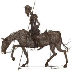 Turn of the Century Spanish Life-Sized Equestrian Sculpture