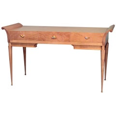 1940's Italian Sycamore Desk with Bench