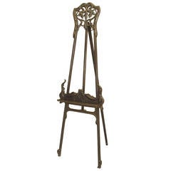 Turn of the Century Art Nouveau Filigreed Easel or Stand