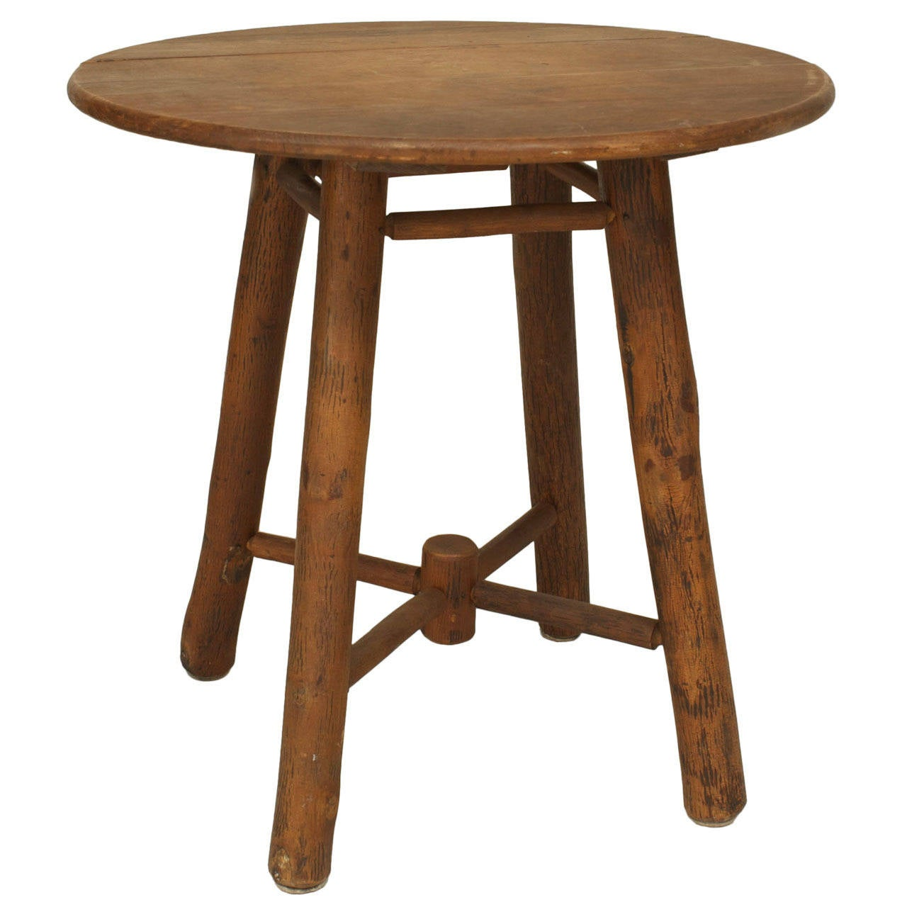 20th C American Rustic Old Hickory End Table For Sale At