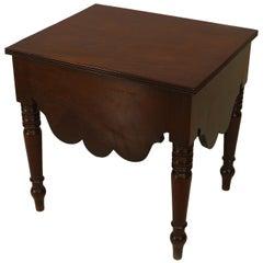 English Georgian Mahogany Bedside Table
