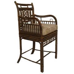19th c. English Regency Brighton Design Bamboo Armchair