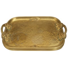 Turn of the Century French Art Nouveau Serving Tray by Marionnet